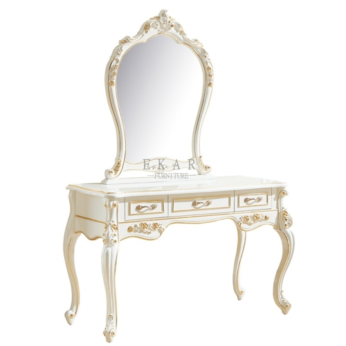 French Style Antique White Bedroom Dressing Table