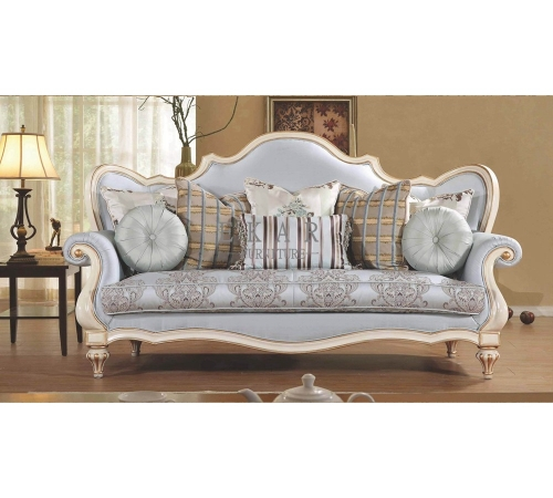 European French Carved 3 Seater Antique Sofa