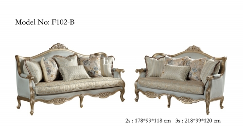 Classic Royal Upholstery Comfortable Sofa Set