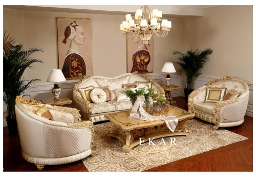 Saudi Luxury Villa Living Room Sofa Set