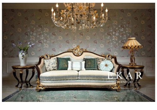 Exquisite and Classic Royal Design Living Room Furnitures Sofa Sets