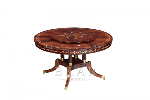 Wooden Rectangle Round Dining Table Chair