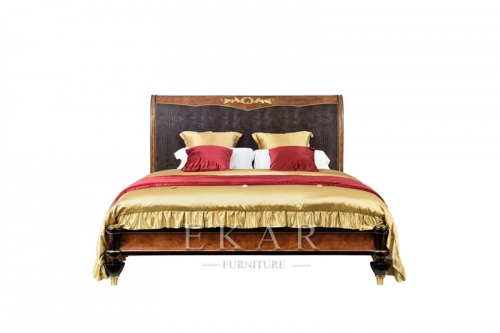 Luxury European Style Villa Bedroom Furniture Set Bed
