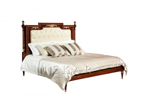 Luxury European Style Villa Bedroom Furniture Set Bed Nightstand Dressing Table